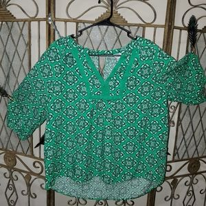 Fun and flowy green top